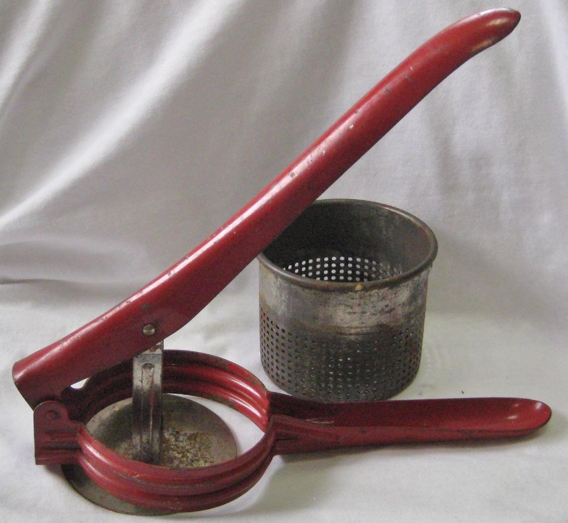 Potato Ricer Masher Juicer USA Red Color