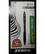 NEW Zebra 22210 Z-Grip Retractable Ballpoint Black Medium Point 12/Pk Pens - $9.97