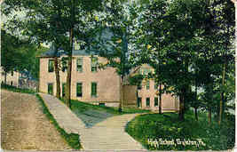 The Old High School Galeton Pennsylvania Vintage Post Card - $5.00