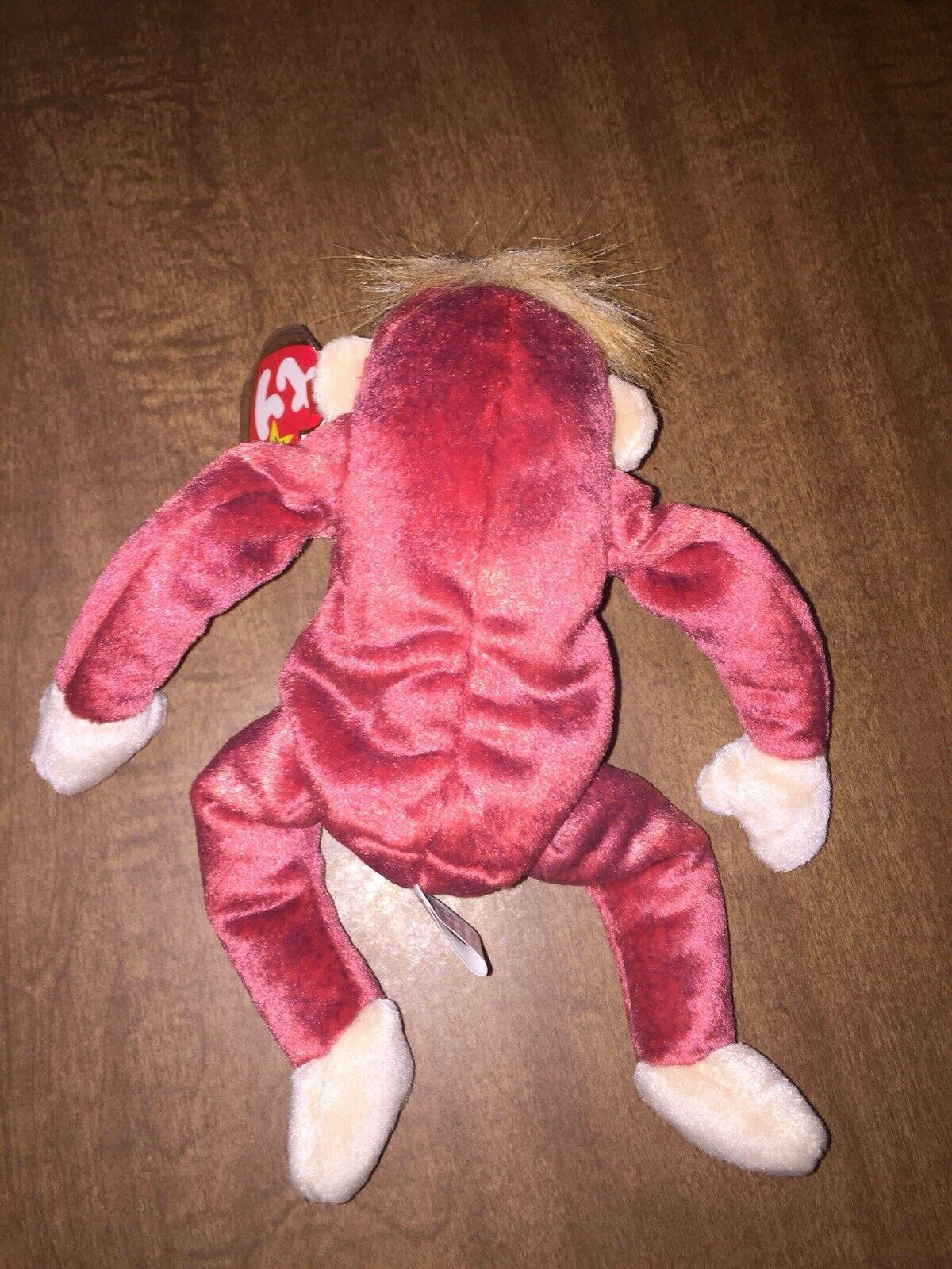 Vintage Ty 1999 Schweetheart Red Orangutan Beanie Baby Original Retired MWMT