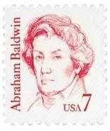 1985 7c Abraham Baldwin, American Patriot & Politician Scott 1850 Mint F... - $18,71 MXN