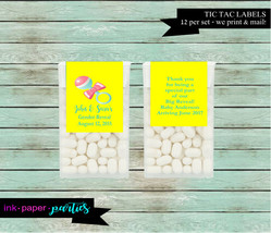 Baby Shower Rattle ~ Any Color Background ~ Party  Candy Mints Mint Labe... - $3.50