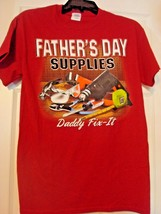 GILDAN FATHER'S DAY SUPPLIES DAD 2XL GRAPHIC RED PRE-SHRUNK COTTON T-SHI... - $9.97