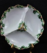 """Vintage Lefton China """"Holly Garland"""" 3-Part Relish Dish circa, 1949-1955 - $29.99"""