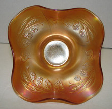 Antique Fenton Marigold Carnival Glass Bowl Dish Hat BlackBerry Spray  - $45.99