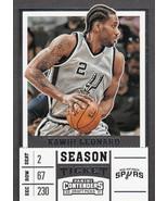 Kawhi Leonard 2017-18 Panini Contenders Draft Picks Grey Jersey Card #28 - $0.99