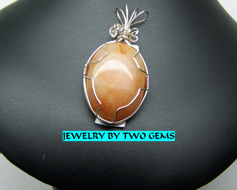 Jewelry By Two Gems (Wp8) Sterling Silver Wire Wrap Pendant
