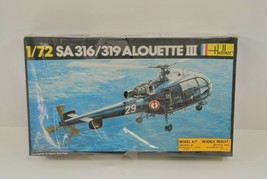 Heller SA316/319 Alouette III Helicopter Model Kit 225 1:72 Scale Made i... - $19.24