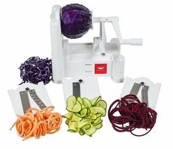 Fruit Vegetable Slicer Peeling Peeler Spiral Cutter Hand Tool Set 3 Blad... - $41.28