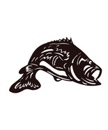Largemouth Bass Scroll Saw Silhouette pattern by OTB Patterns - $2.75