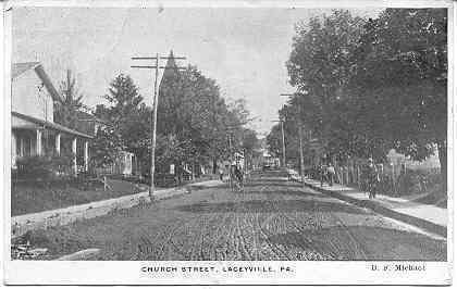 Primary image for Church Street Laceyville Pennsylvania circa 1910 Post Card