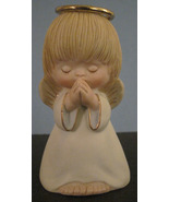 Blond Haired Praying Angel Cherub Bell Collectible Christmas - $6.99