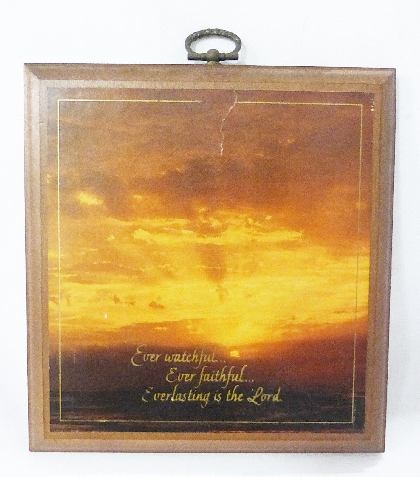 Hallmark plaque sunset picture wood vintage and 24 similar items