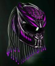 Predator Motorcycle Helmet Pink Magenta Fire (Dot / Ece Certified) - $355.00