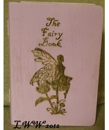 Light Purple Faux Book Wooden Tarot Box The Fairy Book Wicca Pagan Handmade - $10.99