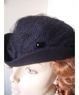 "Long 10"" Victorian Dress HatPin Gibson Girl 1890s Blk Glass Never Worn - $20.00"