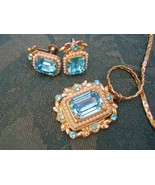 Art Deco Pendant w/ Earrings Vtg Matched Jewelry Set Ca1919 Coro Sign  - $135.00