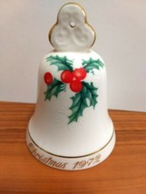 Noritake Bone China Limited Collectors Series NO 1 Japan Christmas 1972 Bell - $2.97