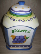 "Nonni's Handcrafted Cookie Jar Tomato artichoke Grapes Pear Design 11"" T... - $9.95"