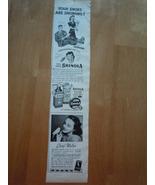 Vintage Shinola Polish & Cheryl Walton Small Print Magazine Advertisemen... - $4.99