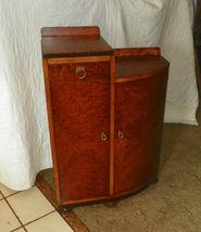 Burled Elm & Mahogany Cabinet - $499.00