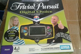 Trivial Pursuit Digital Choice Board Game.Opened but never used. - $28.04