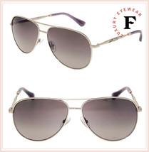 JIMMY CHOO JEWLY Gold Aviator Violet Gradient Metal Jewel Sunglasses Women - $257.40