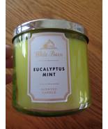 Bath & Body Works White Barn Eucalyptus Mint 3 Wick Candle 14.5 oz - $24.50