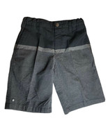 Boys Micros Adjustable Waist Black and Gray Shorts Snap Zip 4 Pockets Sz 7 - $14.84