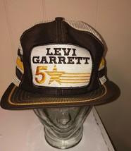 Vtg  3 STRIPE Mesh Snapback Cap Hat LEVI GARRETT 5 STAR Trucker Hat !!! - $83.16