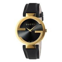 Gucci YA133326 Black Dial Leather Strap Unisex Watch - $834.99