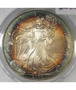 2000 Silver Eagle PCGS MS67 Great Rim Toning Certified AH393 - $279.51