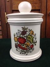 Vintage McCOY Pottery 216M Spice of Life Canister with Lid USA Vegetables - $18.66