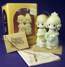 Precious Moments Christmas Ornament To My Forever Friend 113956 1988 Two Girls - $10.93