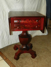 Mahogany 2 Drawer Dropleaf Work Table / Nightstand  (T305) - $649.00