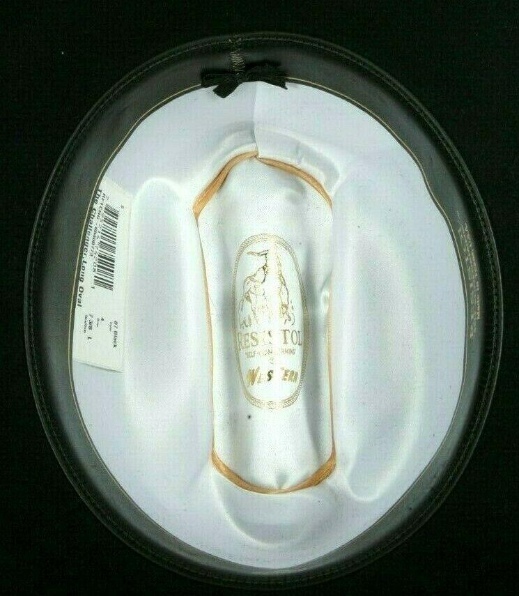 Resistol Ladies Black The Challanger Long Oval Cowboy Western Hat 7 3/8 5X Felt