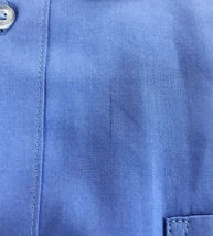 Omega Italy Men's French Blue Dress Shirt Long Sleeve Slim Fit w/ Defect 3XL image 5