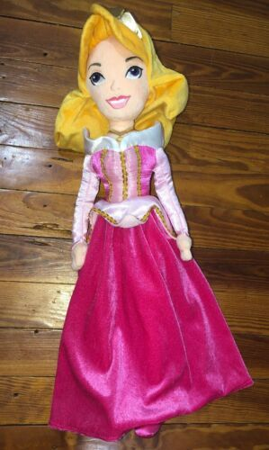 "Disney Store Princess Sleeping Beauty AURORA 20"" Soft Plush Doll Toddler Safe"
