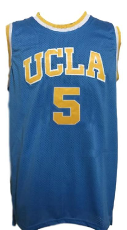 Baron davis  5 custom college basketball jersey blue   1
