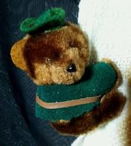 Vintage Dakin Plush Robin Hood Bear Clip-on toy Huggy 1985 Korea Hugger ... - $6.26