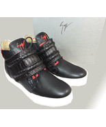 Giuzeppe Zanotti High Top Sneakers Foxy London Birel Vague Black Leather... - $389.00