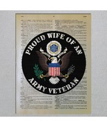 US Army Veteran Proud Choose A Family Member Dictionary Art Print - $11.00