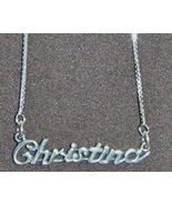 Sterling Silver Name Necklace - Name Plate - CHRISTINA - $54.00