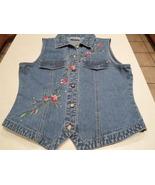 Bill Blass Blue Jean Vest - $19.00