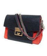 New $2190 GIVENCHY Small Gv3 Leather & Suede Navy/Red Shoulder Bag - $978.04