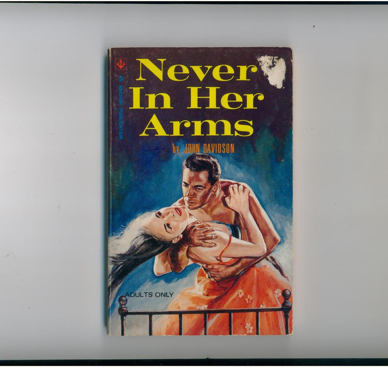 Primary image for Never In Her Arms John Davidson 1965 1st scarce