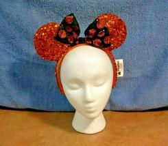 Disney Parks Minnie Mouse Ears Halloween Orange Sequins NWOT - $29.65