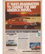1978 Chrysler Plymouth Horizon Car Automobile Red Green Vintage Print Ad 1970s - $6.28