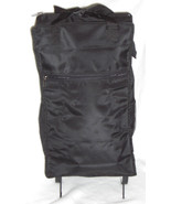 D'MARGEAUX Rolling Wheeled Pull Bag  26 X 13 inch Black NWT - $24.95