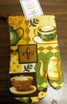 """1 RARE Printed Oven Mitt (10"""") COFFEE & TEAPOT by AM - $7.69"""